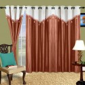 Cortina Plain Drape Door Curtain - Pack Of 2 - CRNDXV33679U8FGF