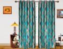 Dekor World Illusion Waves Window Curtain - Pack Of 2