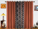 Dekor World Circle Bonanza With Solid Window Curtain - Pack Of 3 - CRNDXM38HUZW64MC