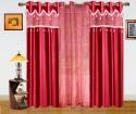 Dekor World Paradise Embroidery Window Curtain - Pack Of 3 - CRNDU84K9FHJ9VTY