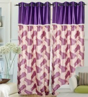 Hargunz Polyester Purple Door Curtain 214 Cm In Height, Single Curtain