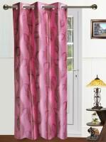 Dekor World Polyester Peach Door Curtain 215 Cm In Height, Single Curtain