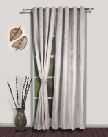 S9home By Seasons Polyester Silver Door Curtain 260 Cm In Height, Pack Of 2