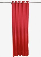 ANIQ Polycotton Red Plain Curtain Door Curtain 210 Cm In Height, Single Curtain