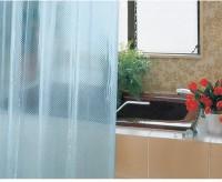 Freelance PVC Blue Plain Eyelet Shower Curtain 200 Cm In Height, Single Curtain