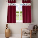 Fabutex Embroidered Peepin With Plain Crush Window Curtain - CRNDY6GWEWDCJXC3