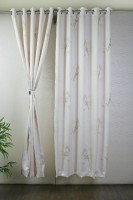 Bloom Polyester White Door Curtain 213.36 Cm In Height, Single Curtain