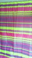 Tjar PVC Multicolor Striped Ring Rod Window & Door Curtain 180 Cm In Height, Single Curtain