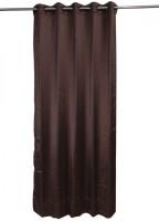 ANIQ Polycotton Brown Plain Curtain Door Curtain 210 Cm In Height, Single Curtain