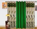 Dekor World Autam Leaf Panel Door Curtain - Pack Of 3
