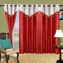 Cortina Plain Drape Window Curtain - CRNDW2PZ9ZXHHY73