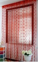 Shop 24 Decor Net Red Self Design Eyelet Door Curtain 205 Cm In Height, Pack Of 2
