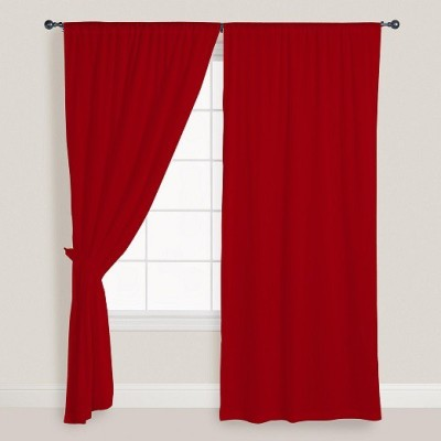 Smart Home Textile Cotton Red Door Curtain 210 Cm In Height, Single Curtain - CRNE7NHRJC9G6YQE