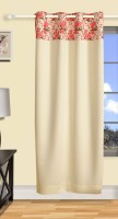Swayam Satin Multicolor Printed Eyelet Long Door Curtain 270 Cm In Height, Single Curtain