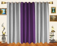 Decor Bazaar Alternate Solids Window Curtain (Pack Of 3)