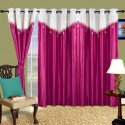 Cortina Plain Drape Door Curtain - Pack Of 2 - CRNDXV33BWKQGZAF