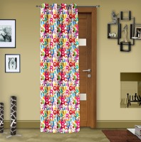 Story@Home Polyester Multi Color Printed Eyelet Door Curtain 215 Cm In Height, Single Curtain