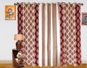 Dekor World Double Damask Combo. Door Curtain - Pack Of 3