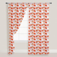 Smart Home Textile Cotton Orange Door Curtain 210 Cm In Height, Single Curtain - CRNE7GRRABNVZZTF