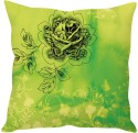 StyBuzz Green Floral Print Cushions Cover - Pack Of 1