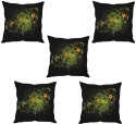 StyBuzz Floral Abstract Art Cushions Cover - Pack Of 5