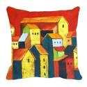 MeSleep Multi Houses Digitally Printed Cushions Cover - Pack Of 1