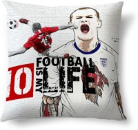 ShopMantra Rooney Football Is Life England Football Printed Cushions Cover (Cushion Pillow Cover, 40.64 Cm*40.64 Cm)