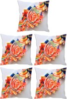 Aashi Homes Printed Pillows Cover Pack Of 5, 30 Cm*30 Cm, Orange