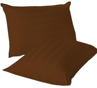 LNT Linen Striped Cushions, Pillows Cover (Pack Of 2, 43.2 Cm*69 Cm, Brown)