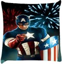 Snoogg Captain America Celebration Throw Pillows 16 X 16 Inch Cushions Cover - Pack Of 1
