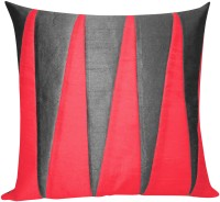 Zikrak Exim Zig Zag Patch Black N Red Floor Self Design Cushions Cover (Floor Cushion Cover, 50 Cm*50 Cm)