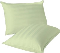 Lnt Striped Pillows Cover (Pack Of 2, 43.2 Cm*69 Cm, Green)