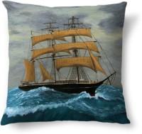 AMY Big Boat Sailing River Printed Cushions Cover (40.64 Cm*40.64 Cm)