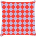 Snoogg Chequered Pattern Design 2346 Throw Pillows 16 X 16 Inch Cushions Cover - Pack Of 1
