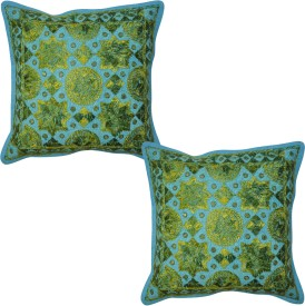Lal Haveli Home Decor & Furnishing Embroidered Cushions Cover (Pack Of 2, 16*16, Multicolor)