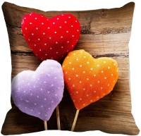 Holicshop Heart Digitally Cushion Cover Printed Cushions Cover (40.64 Cm*40.64 Cm, Multicolor)