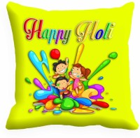 Holicshop Joy Of Kids With Holi Digitally Printed Cushions Cover (40.64 Cm*40.64 Cm, Multicolor)