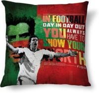 ShopMantra Filipe Figo Portugal Football Printed Cushions Cover (Cushion Pillow Cover, 40.64 Cm*40.64 Cm)