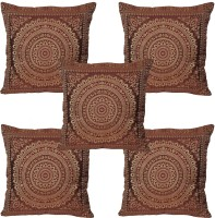 JBG Home Store Abstract Cushions Cover (Pack Of 5, 40 Cm, Brown)