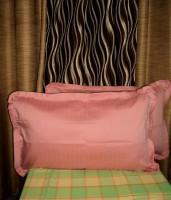 Amita Home Furnishing Striped Pillows Cover Pack Of 2, 43 Cm*69 Cm, Peach