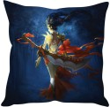 StyBuzz Warrior Girl With Sword Cushions Cover - Pack Of 1