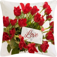 Amore Love Rose Cushions Cover (Pack Of 1)