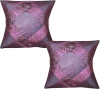 Lal Haveli Rajasthani Ethnic Silk Sofa 16x16 Inches Abstract Cushions Cover (Pack Of 2, 41 Cm*41 Cm, Multicolor)