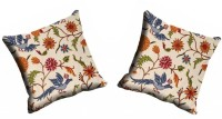 MeSleep Multi Flower Cushions Cover (Pack Of 2)