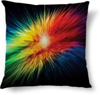 Amy Colorful Ray Light Abstract Cushions Cover (40.64 Cm*40.64 Cm, Multicolor)