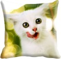 MeSleep Kitty Digitally Printed Cushions Cover - Pack Of 1