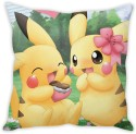 StyBuzz Pikachu Couple (12x12) Cushions Cover - Pack Of 1