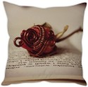 StyBuzz Rose On Book Cushion Cover Cushions Cover - Pack Of 1