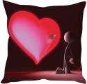 StyBuzz Painted Heart Cushions Cover - Pack Of 1