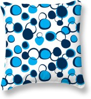 Smart Home Textile Self Design Cushions Cover (Pack Of 2, 40 Cm, Blue, White)